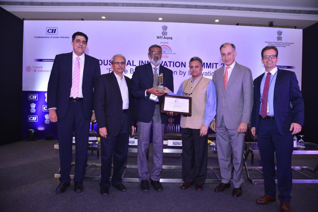 Receiving Award at CII-Industrial Innovation-2017
