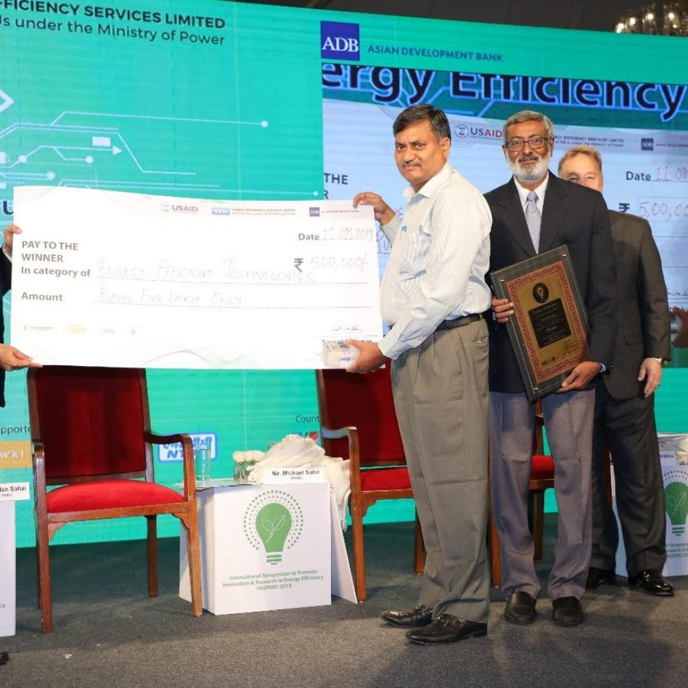 1st Prize in Energy Efficiency Category with 5 lakhs cash reward of innovate-To-Inspire completion by Energy Efficiency services Ltd (EESL), World Bank, ADB, IFC, DOE (USA), WRI