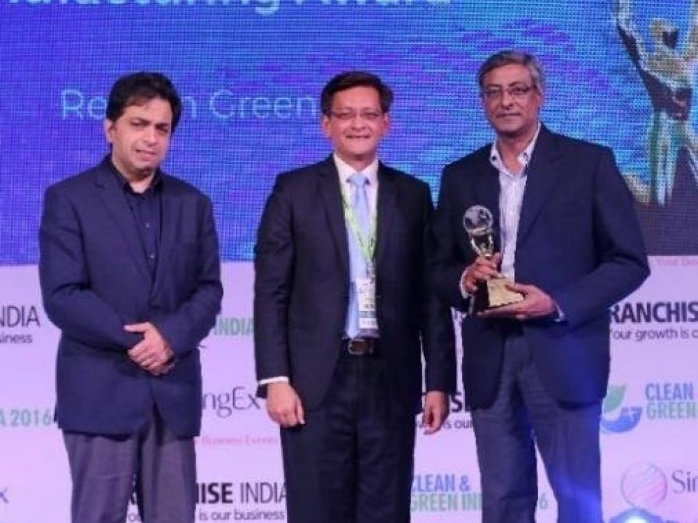 Best Green Product Manufacturing Award at Clean & Green Awards-2016, New Delhi