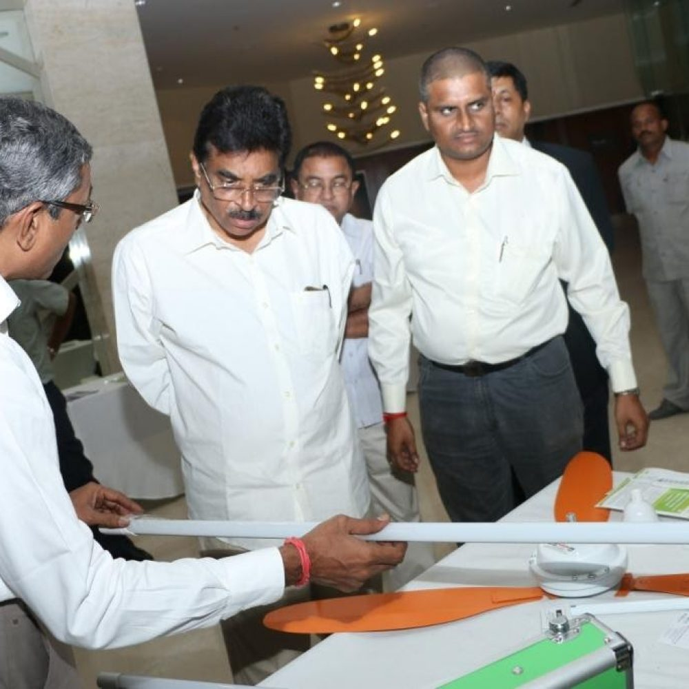 Demonstration to Sree Haribabu, MP during launch of Indian Green Building Congress, Vizag Chapter 2016