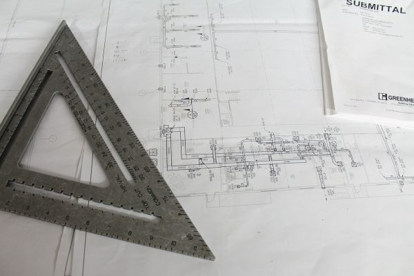 construction, plans, square